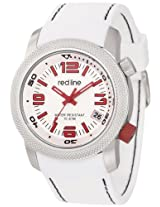 "red line Men's RL-50043-02 ""Octane"" Stainless Steel and White Silicone Watch"