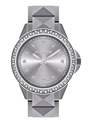 K&BROS 9565-2 / Reloj de Señora  con brazalete metálico gris