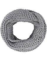 Winter Warm Knitted Two Tone Crochet Knit Infinity Scarf,Light LGrey