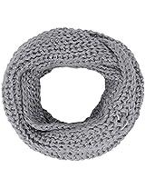 Simplicity Winter Warm Infinity Knit Scarf Loop Hood Fashion Scarf, Light Grey2