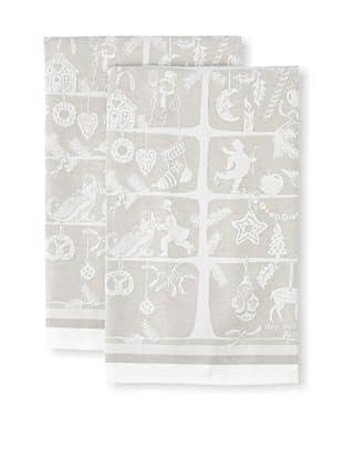 Garnier-Thiebaut Set of 2 Sapin d'Alsace Kitchen Towels, Naturel