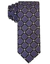 Scott Allan Men's Geometric Necktie - Charcoal/Silver