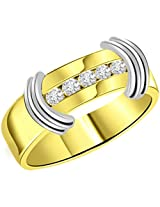 0.15 cts Diamond Two Tone 18K Mens Ring
