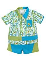 Stephan Baby Go Fish Fishie Print Bowling Shirt and Diaper Cover, 12-18 Months