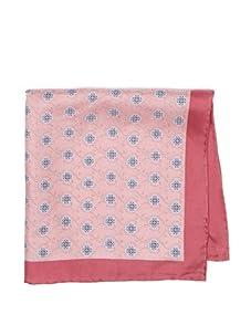 Mann Brothers Men's Scroll Pattern Pocket Square, Pink