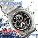 Mach smart Wrist Watch Spy H.D Watch Waterproof Camera -Video Recorder -Steel 4 GB