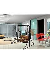 indoor wooden swing teak balcony room swings steel pipe