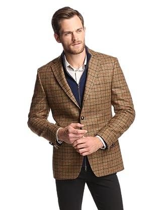 Simon Spurr Men's 2-Button Sportcoat (Natural Multicolor)