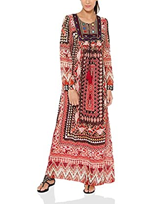 Tantra MaxiDress Long print with Embroidery Chest