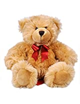 Archies Bear With Ribbon Soft Toy, Light Brown, 20 cms