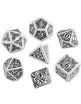 Steampunk Dice White/Black (7 Stk.) Board Game