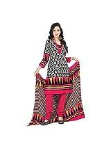Triveni Blended Cotton salwar Suit (TSSDHSK1109_Black)
