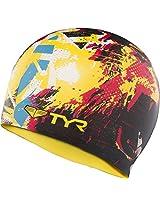 TYR The King Swim Silicon Cap (Black/Yellow)