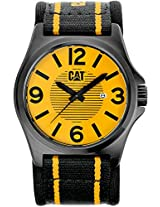 CAT Men's PK16161731 DP XL Yellow Analog Dial with Yellow and Black Nylon Strap Watch