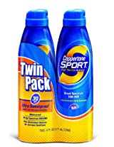 Coppertone Continuous Spray Twin-Pack Sport SPF #30 6 oz.