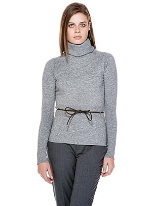 Stefanel Pullover Rollkragen (Grau Meliert)