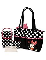 Disney 5 in 1 Diaper Tote Bag Set, Minnie