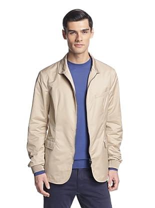 Salvatore Ferragamo Men's Zip-Front Jacket (Tan)