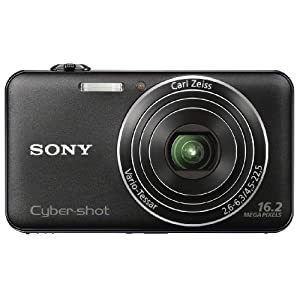 Sony Cyber-shot DSC-WX50 16.2MP Point and Shoot Camera (Black) with 5x Optical Zoom, Memory Card and Camera Case