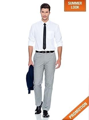 Dockers Camisa de Popelin Lavada (Blanco)