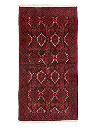 Darya Rugs Authentic Persian Rug, Red, 3' 3