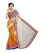 Avadhi Fashions Women's Net Saree (g_1_Yellow)