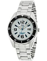 Q&Q Standard Analog White Dial Men's Watch - A434N204Y