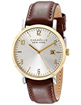 Caravelle by Bulova Dress Analog Champagne Dial Men's Watch - 44B108