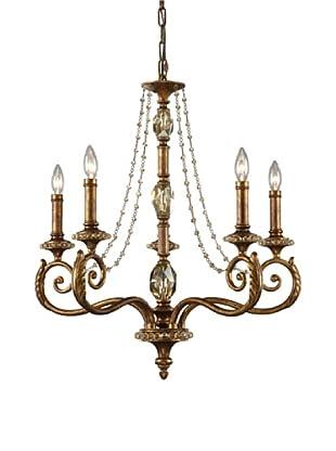 ELK Lighting Montavilla 5-Light Chandelier, Spanish Bronze