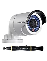 Hikvision 3MP Network IR Bullet Camera (4mm Lens) + Lenspen NLP-1 Cleaning Brush (Black)