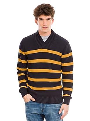 Springfield Pullover (Blau/Gelb)