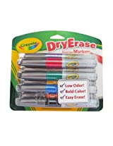 Crayola Dry Erase Broad Line Chisel Tip Markers, 8 Count