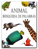 Animal Busqueda De Palabras (Spanish Edition)