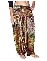Famacart Women Printed Harem Pant Free Size Multicolor summer trouser