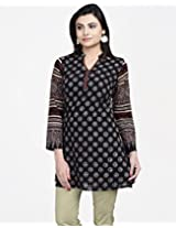 Cotton Ajrak Combination Print Tunic-