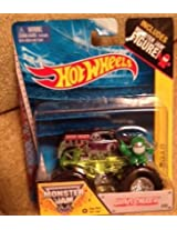 Monster Jam Grave Digger Edge glow roll cage #55 with monster jam figure Rare and hard to find item