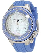Swiss Legend Watches, Neptune Ceramic (44 mm) White Mother of Pearl Dial Blue Ceramic Blue Silicone, Model 11844-BLWSA