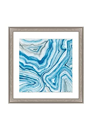 Blue Agate Mineral Print II