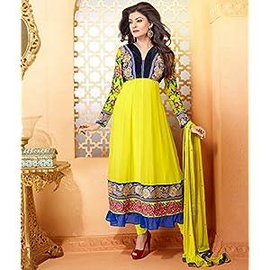 Yellow Sushmita Sen Anarkali Suit