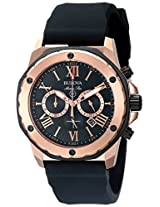 Bulova Marine Star Analog Black Dial Men's Watch - 98B104