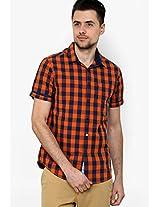 Solid Orange Casual Shirt