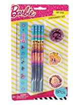 Mattel Barbie Stationery Set, Multi Color (8 Pieces)