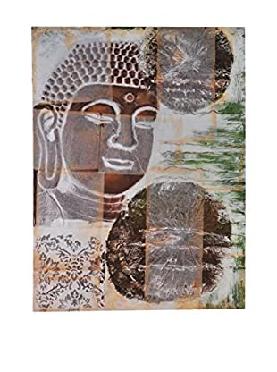 Bombay Company Bronze Buddha Painted Canvas