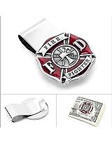 Cufflinks, Inc. Enamel Firefighter Money Clip (MC3216ER)