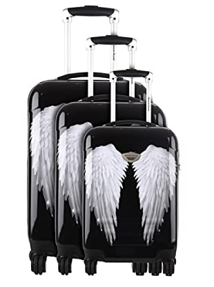 American Revival 3er Set Trolley Wings (Schwarz)
