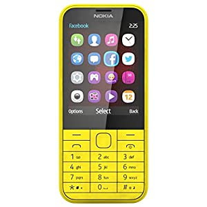 Nokia 225 (Dual SIM, Yellow)