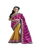 Shaktideal Embellished Jacquard Half and Half Saree