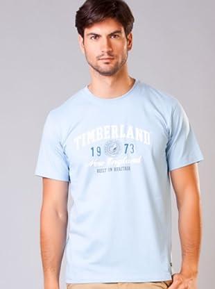 Timberland Camiseta Linear Logo (Azul Claro)