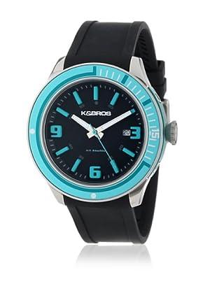 K&BROS Reloj 9487 (Negro / Azul)