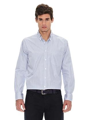 Turrau Camisa Cuadro Mini Ventana (Gris / Azul)